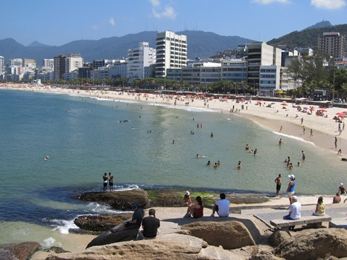 The World's Most Romantic Travel Destinations-3 - Ipanema Beach From Arpoador Rock